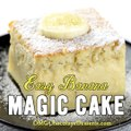 If you are looking for a QUICK and EASY CAKE RECIPE with just few simple ingredients, this easy Banana Magic Cake is perfect sweet treat.'RECIPE HERE >