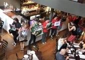 Vegan Activists Protest Inside Melbourne Steakhouse
