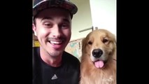 Guy And His Dog Make Hilarious Faces
