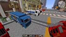 Minecraft EXTREME VEHICLES MOD / DRIVE AROUND IN SWAT CARS AND FIRE ENGINES!! Minecraft