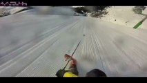 ça devait etre sa plus belle descente en ski il fini en glissade extreme