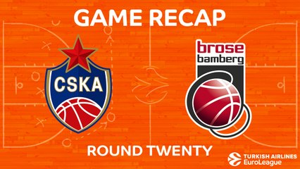 EuroLeague 2017-18 Highlights Regular Season Round 20 video: CSKA 81-72 Bamberg