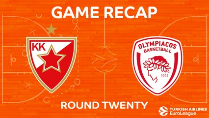 EuroLeague 2017-18 Highlights Regular Season Round 20 video: Zvezda 89-78 Olympiacos