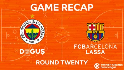 EuroLeague 2017-18 Highlights Regular Season Round 20 video: Fenerbahce 86-82 Barcelona