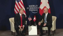 President Trump Meets With President of Swiss Federation In Davos