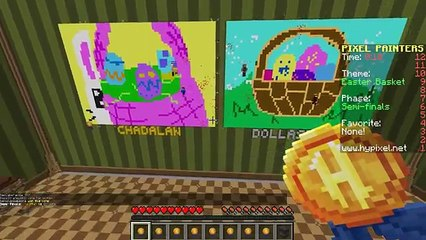 Pixel Painters with Gamer Chad   Easter Bunny   Minecraft Hypixel Server