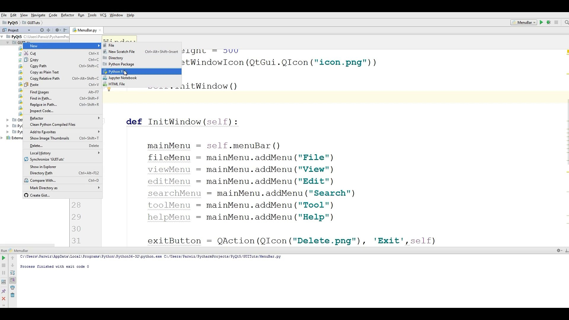 12 PyQt5 CheckMenu Python GUI Programming