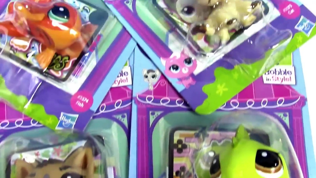 LPS Bobblehead Littlest Pet Shop German Shepard Dog Kitty Cat Iguana Goldfish #3573 #3562