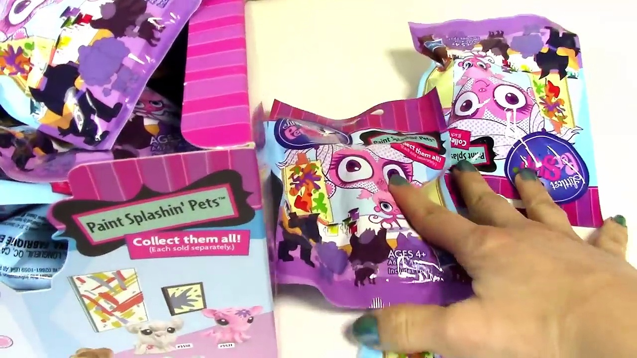 Blind Bag HAUL Littlest Pet Shop Paint Splashin BOX case Part 1 LPS toy review opening