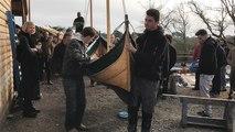 Toute première mise à l'eau pour deux bateaux en bois traditionnels