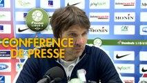 Conférence de presse Châteauroux - FC Sochaux-Montbéliard (1-1) : Jean-Luc VASSEUR (LBC) - Peter ZEIDLER (FCSM) - 2017/2018