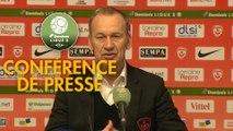 Conférence de presse AS Nancy Lorraine - Stade Brestois 29 (2-2) :  (ASNL) - Jean-Marc FURLAN (BREST) - 2017/2018