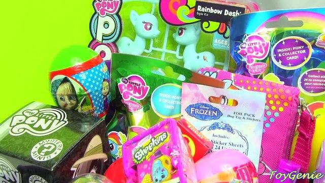My Little Pony Lunch Box Surprises with MLP, Shopkins, Barbie Surprises