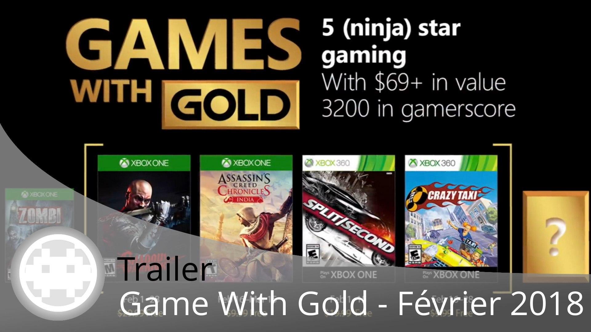 Trailer - Game With Gold - Les jeux gratuits de Février 2018 en vidéo sur Xbox One et Xbox 360