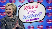 Hillary Clinton Plays Whod You Rather?