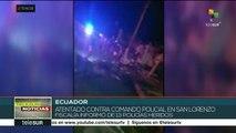 Ecuador: declaran estado de excepción en Esmeraldas tras atentado