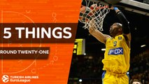 Turkish Airlines EuroLeague, Regular Season Round 21: 5 Things to Know