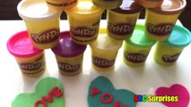 Creative Kids Crafts DIY PLAYDOH VALENTINES DAY Card Heart Candy Box of Chocolates ABC Surprises
