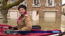 Inondations dans les Yvelines : la barque au quotidien pour les habitants de Poissy
