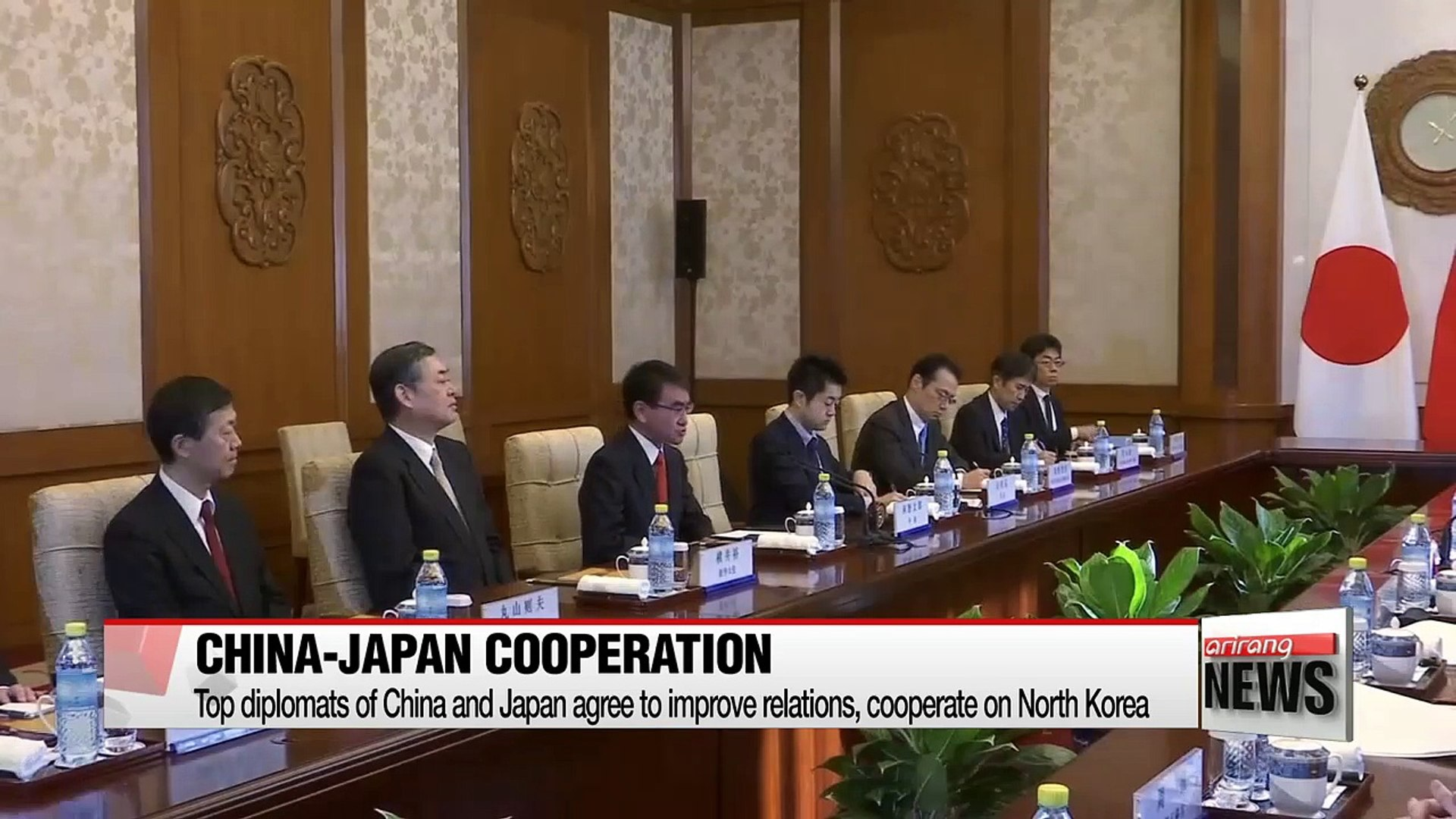 Top diplomats of China and Japan agree to improve relations, cooperate on North Korea