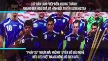 """Lập đàn làm phép bên khung thành: nhang đèn hoa quả và hình đội tuyển Uzbekistan, """"Pháp sư"""" người Hải Phòng tuyên bố giải nghệ nếu U23 Việt Nam không vô địch AFC"""