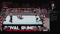 WWE 2K18 Royal Rumble 2018 WWE Title Handicap AJ Styles Vs Kevin Owens Sami Zayn