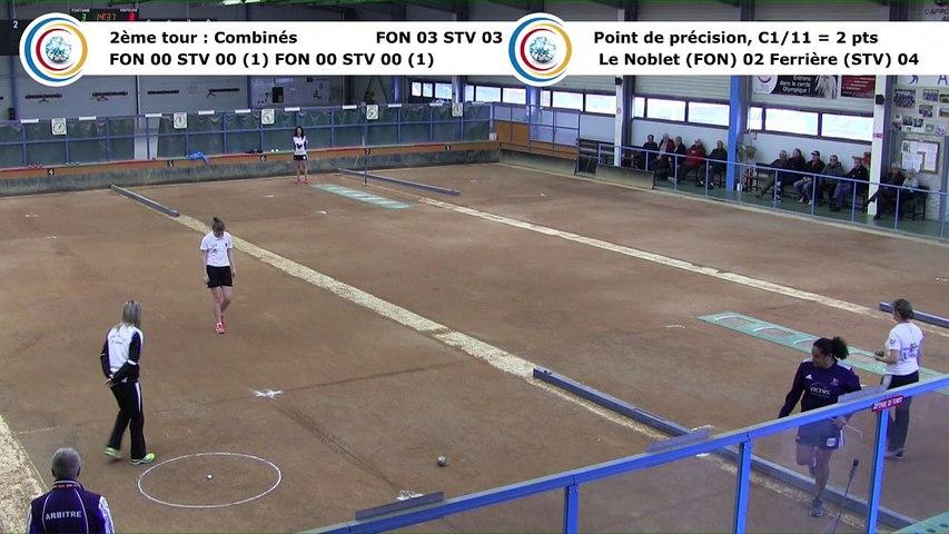Second tour, point de précision, Club Elite Féminin, J5 play-off, Fontaine contre Saint-Vulbas, janvier 2018