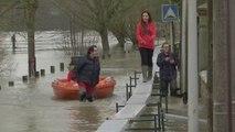 A Lagny-sur-Marne, 4 kilomètres de passerelles ont été installées pour contrer la crue