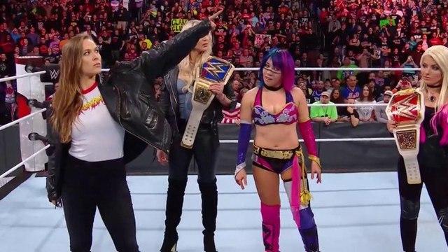 Ronda Rousey se enfrenta a Asuka, Alexa Bliss y Charlotte Flair en WWE Royal Rumble 2018