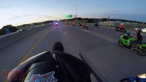 Bike VS Cop Chase Motorcycle Riding Long Wheelie Messing With Cops Highway Patrol Chases Bikers 2016