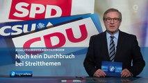 SCHWERPUNKT: Koalitionsgespräche von Union und SPD- Noch kein Durchbruch   Tagesschau24