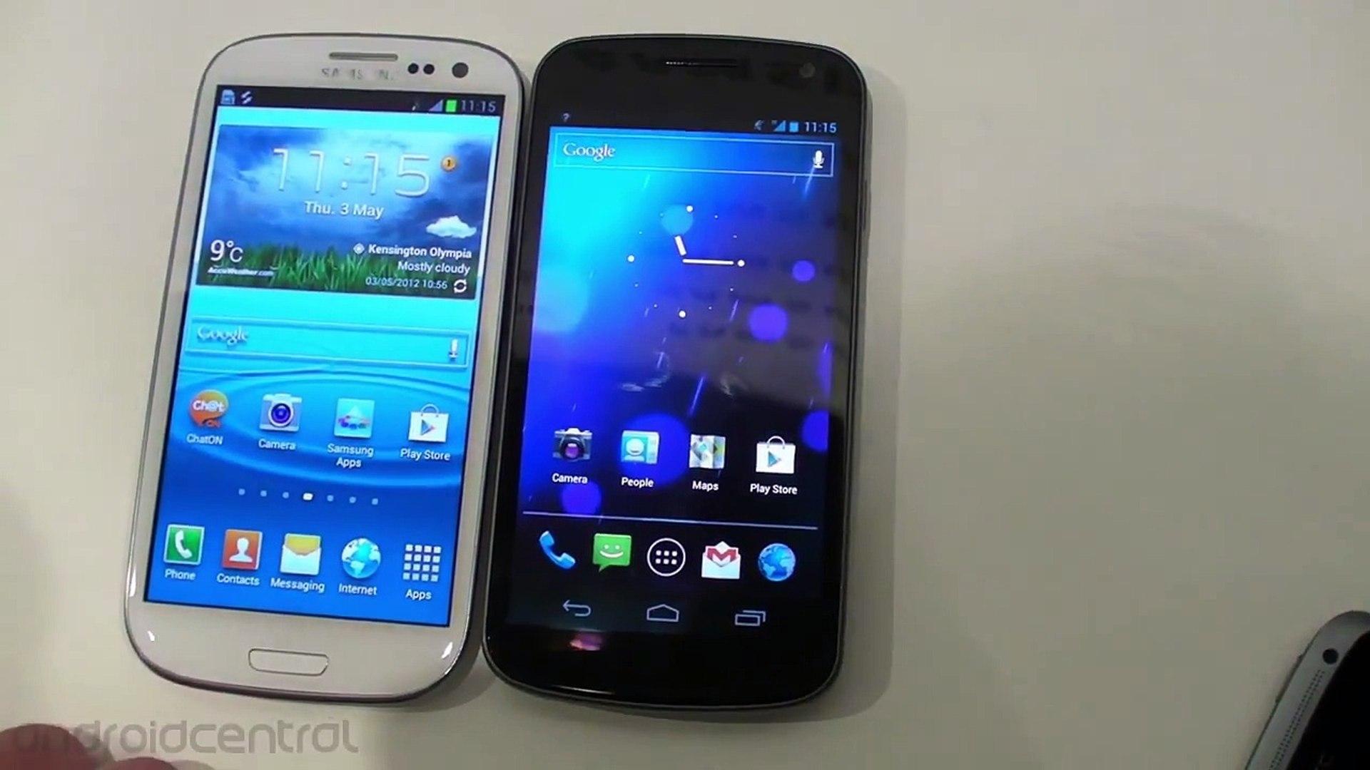 Samsung Galaxy S III versus the Samsung Galaxy Nexus