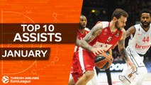 Turkish Airlines EuroLeague, Top 10 Assists, January
