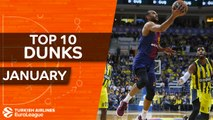 Turkish Airlines EuroLeague, Top 10 Dunks, January