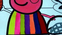 Peppa Pig and Family and Friends Compilation Coloring Pages Peppa Pig Balloons Fun Art to Learn