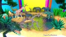 16 Baby Wild Animals Kids Zoo Toys Elephant Rhino Giraffe Tiger Tapir Toy Animals and Fun Fs