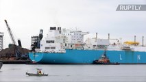 Liquefied Natural Gas Produced in Siberia Arrives in Boston