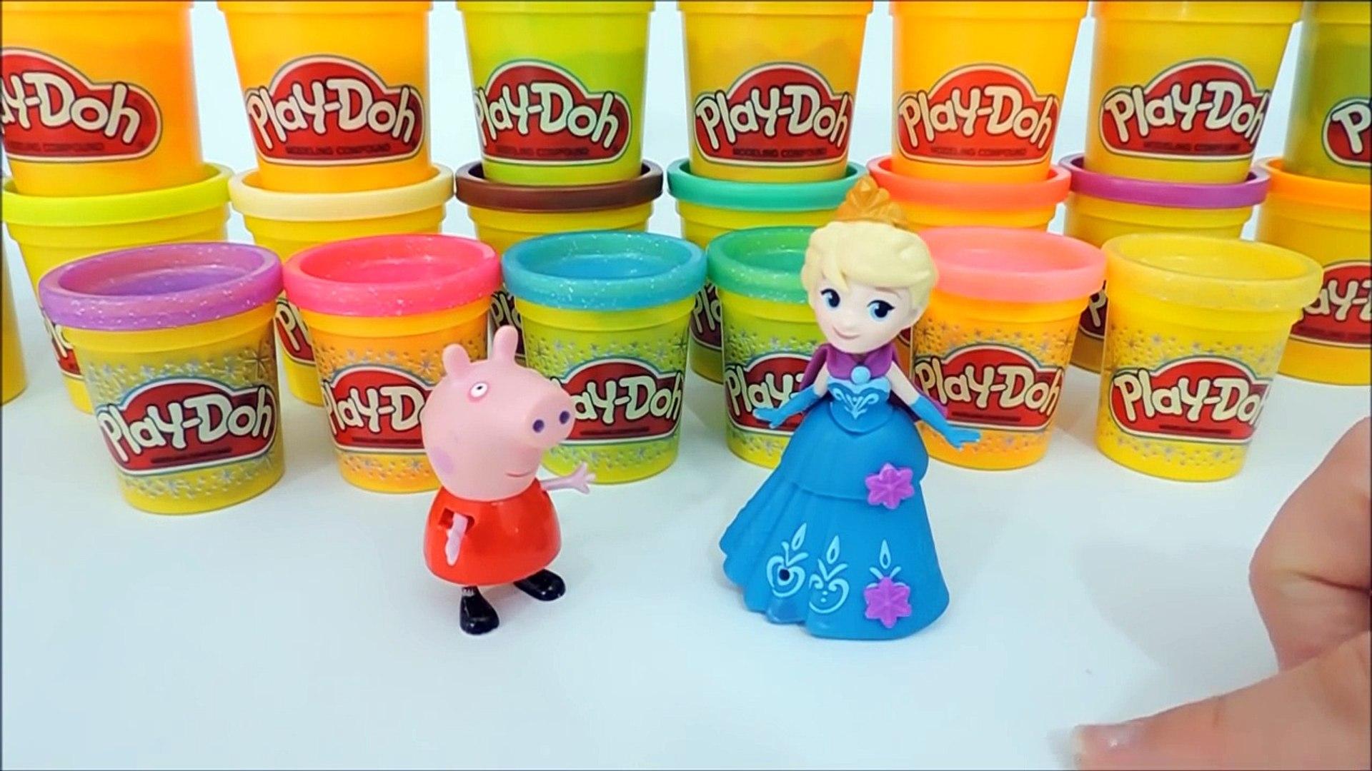 Peppa Pig e Frozen Elsa fazendo UNHAS FROZEN de Massinha de Modelar Play Doh em Portugues