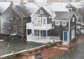 Downtown Nantucket Floods During Winter Storm