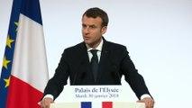 Vœux du Président de la République Emmanuel Macron