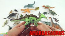 30 Jurassic Dinosaurs- Learn The English Names Sounds Of Dinosaurs For Kids. Dinosaur Figure Real.