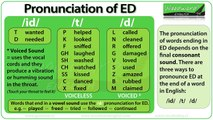 ED pronunciation in English - How to pronounce ED endings