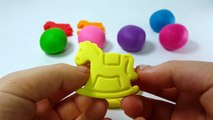Learn Colors Play Doh Modelling Clay Baby Horse Mold Finger Family Song Nursery Rhymes For KIds