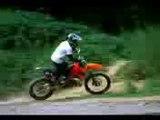 Saut en moto cross