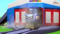Toy Factory Train Cartoon - Trains for Kids - choo choo train - Santa Cartoon - Train - train video