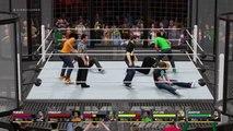 WWE 2K16 wtf Pewdiepie vs Markiplier vs Jacksepticeye vs Vanossgaming vs Kwebbelkop vs Jelly