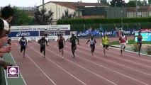 Albi 2017 : Finale 100 m Espoirs M (Amaury Golitin en 10''50)