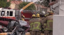Helikopter Evin Üzerine Düştü, Talihsiz Kazada 3 Kişi Öldü 2 Kişi Yaralandı