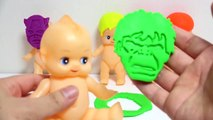 Baby Doll Superhero Modelling Clay Molds Learn Colors Finger Family Nursery Rhymes For Kids