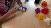 Как сделать сову из конструктор липучка Банчемс How to make an owl from a constructor Bunchems